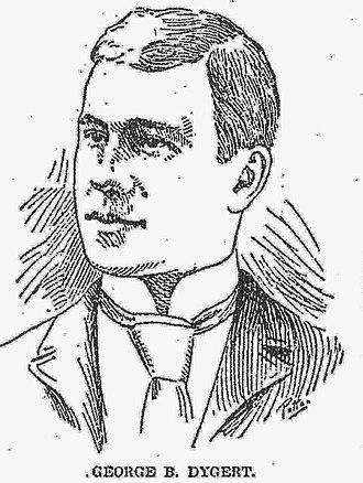 George Dygert - Portrait of Dygert from the Detroit Free Press, June 1893