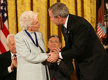 George W. Bush and Ruth Johnson Colvin.jpg