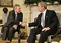 George W. Bush welcomes Jaap de Hoop Scheffer.jpg