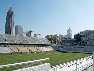 Atlanta United FC - A view of Bobby Dodd Stadium, where Atlanta United played part of its inaugural season in 2017.