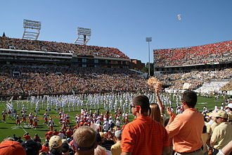 Clemson–Georgia Tech football rivalry - The teams take the field at the 2007 Clemson–Georgia Tech game at Bobby Dodd Stadium