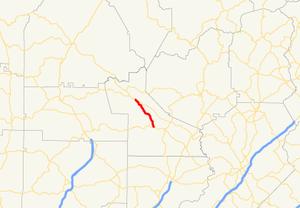 Georgia State Route 183 - Image: Georgia state route 183 map