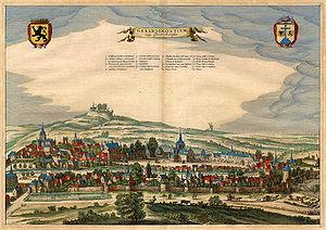 Geraardsbergen - Geraardsbergen in 1649