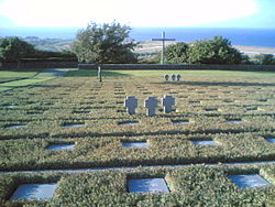 German Military Cemetery at Maleme (GR) 2005 a View across the Memorial down to RWYs of Old RAF airport.jpg