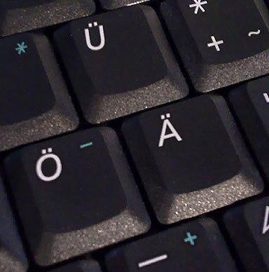 Germanic umlaut on keyboard