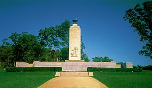 Paul Philippe Cret - Eternal Light Peace Memorial, Gettysburg Battlefield, Gettysburg, PA (1938), Lee Lawrie, sculptor.