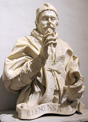 Pope Clement X - Bust of Pope Clement X by Gian Lorenzo Bernini