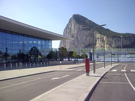 The new terminal at Gibraltar Airport. Gibraltar Airport New Terminal.jpg