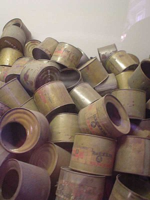 Zyklon B - Empty poison gas canisters found by the Allies at the end of World War II