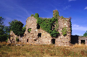 Early life of Lord Byron - Gight Castle, Aberdeenshire, home of Byron's Gordon ancestors