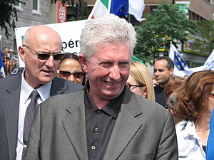 Gilles Duceppe - Gilles Duceppe during a 2007 protest.