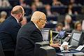 Giorgio Napolitano visite officielle Parlement européen de Strasbourg 4 février 2014 08.jpg