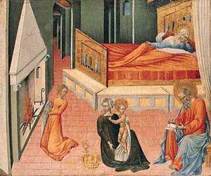 The Birth of Saint John the Baptist: Predella Panel