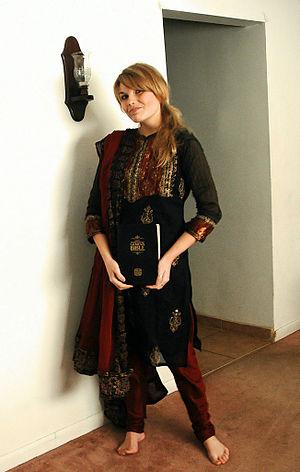 Girl in plain churidaar kurta
