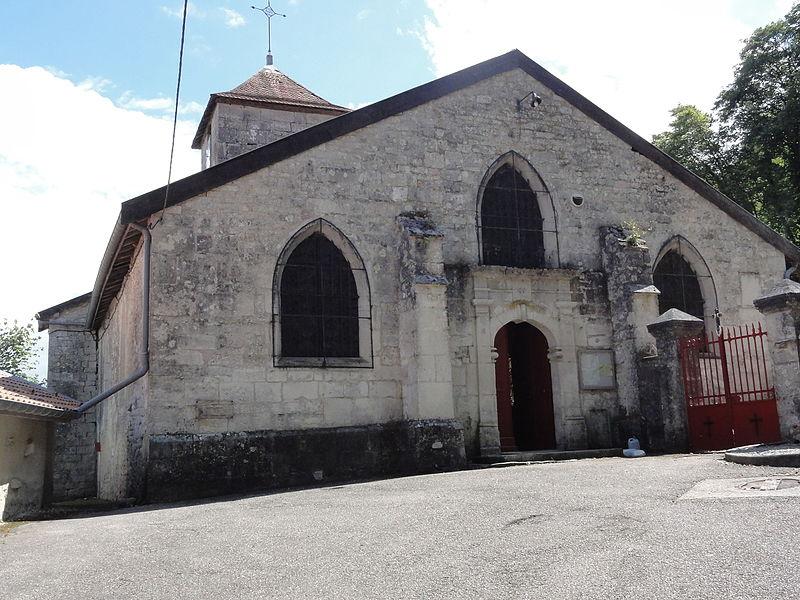 Givrauval (Meuse) église Saint Quentin  façade d'entrée