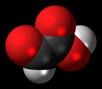 Glyoxylic acid - Image: Glyoxylic acid 3D spacefill