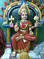 Goddess Durga idol at Palayathamman Cricket Ganesha Temple.jpg