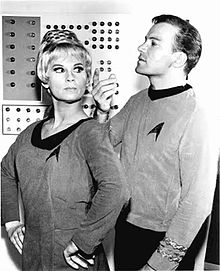 Grace Lee Whitney William Shatner Corbomite Manuever Star Trek 1966.jpg