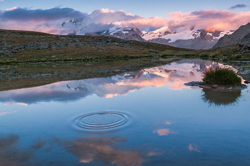 File:Gran Paradiso al tramonto.jpg