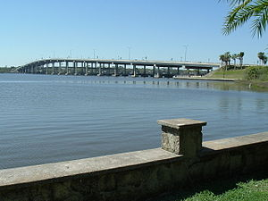 Florida State Road 40 - SR 40 crosses the Halifax River on the Granada Bridge