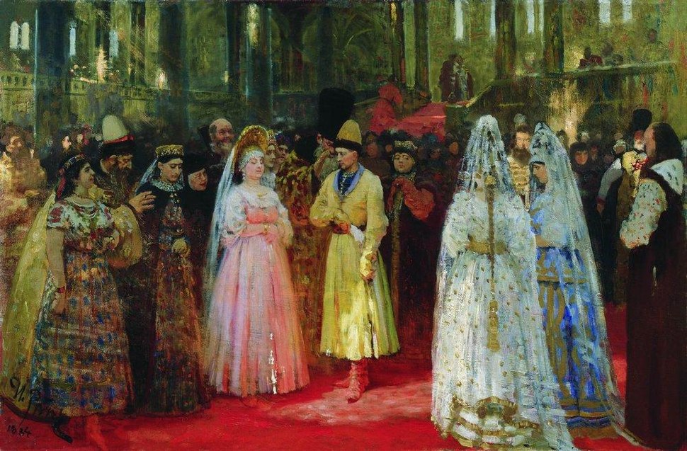 Grand Duke's bride by Repin