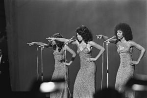 The Three Degrees - Holiday, Ferguson and Pinkney in 1974