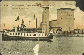 Depot Harbour, Ontario - Image: Grand Trunk Elevators, Depot Harbour, Georgian Bay, Ontario, Canada (1910) (5444702599)