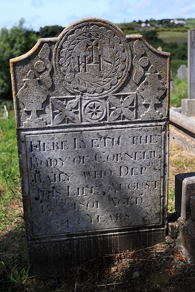 File:Graveyard at Ringrone, 19c Gravestone (2) - geograph.org.uk - 1392040.jpg