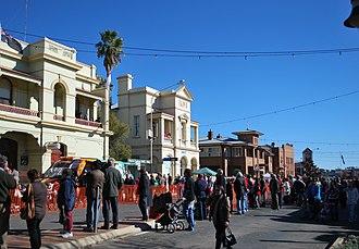 Grenfell, New South Wales - Main Street, Grenfell, during the 2011 Henry Lawson Festival
