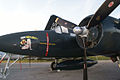 Grumman F7F-3P Tigercat Here Kitty Kitty BuNo 80390 NX700F LEngine Nose Dawn SNF 04April2014 (14563307356).jpg