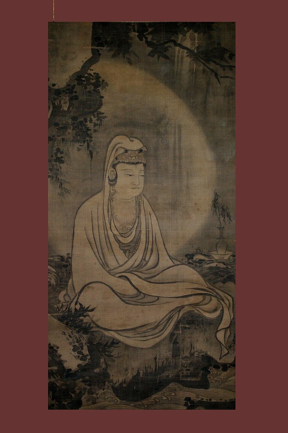 Guan Yin in white robe, by Mu-ch%27i