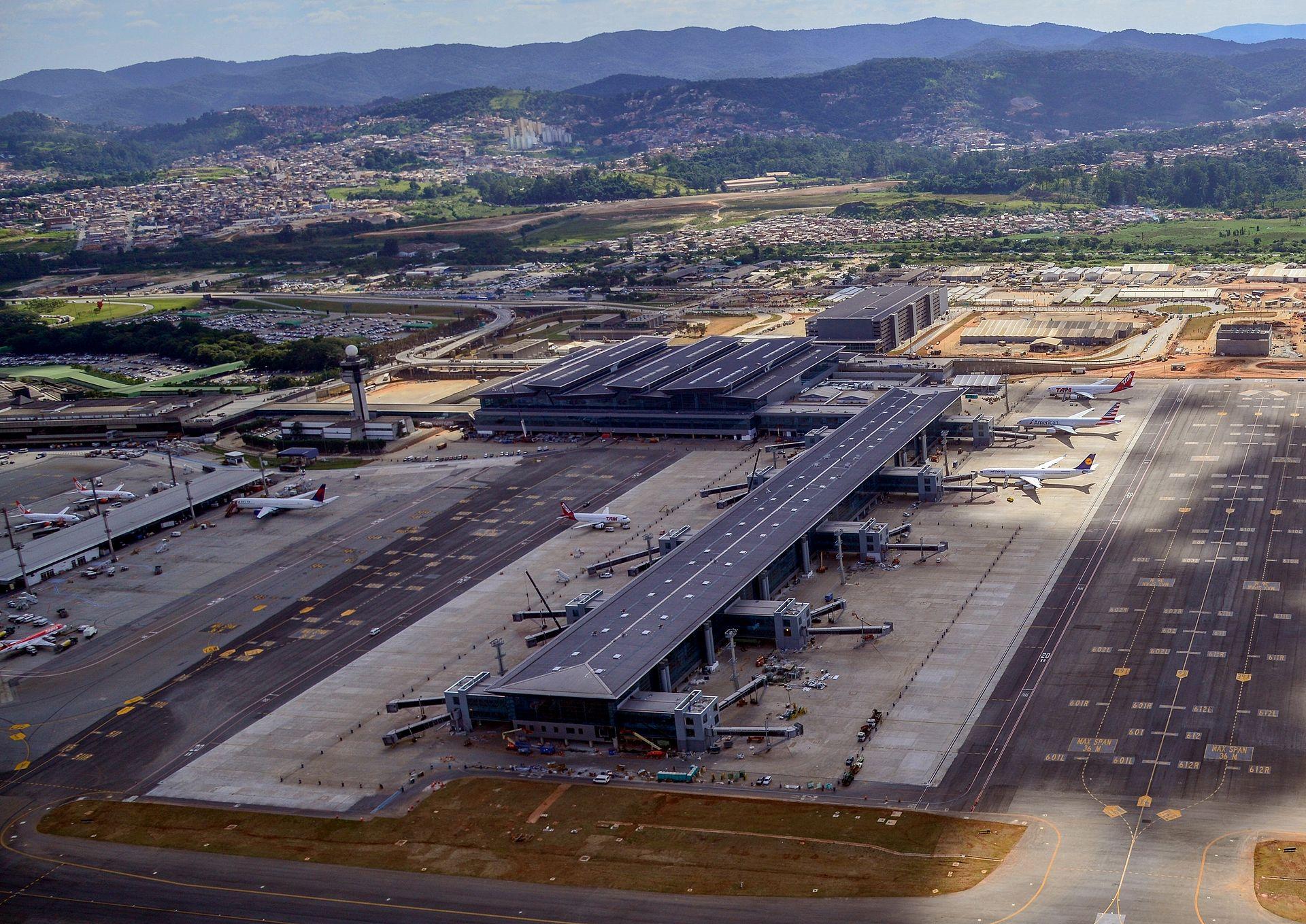 Flughafen Sao Paulo Ankunft