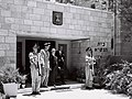 Guatemala's min. Dr. G. Granados leaving the president's house after presenting his credentials, 1955 (D756-124).jpg