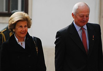 Hans-Adam II, Prince of Liechtenstein - Prince Hans-Adam II and Princess Marie on a state visit to Vienna in 2013