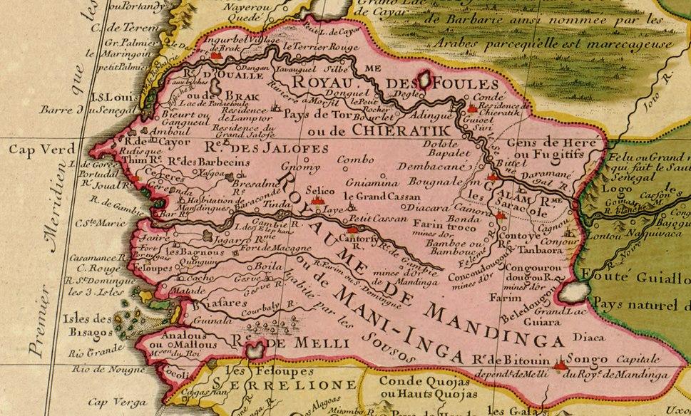 Guillaume Delisle Senegambia 1707