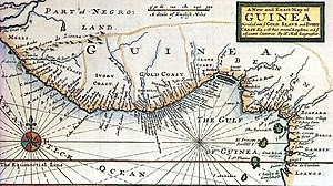 History of Ghana - Historic map of the Swedish Gold Coast