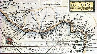 History of Ghana - Historic map of the Swedish Gold Coast