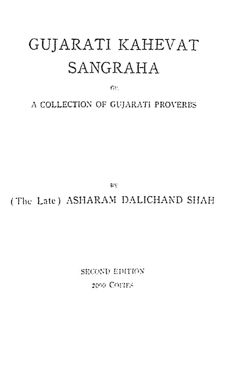 Gujarati Kahevat Sangraha or A Collection of Gujarati Proverbs.pdf