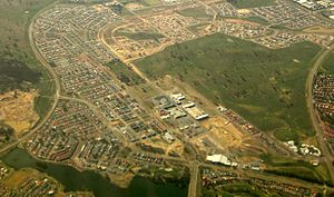 Gungahlin, Australian Capital Territory - Aerial view from north west