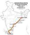 Gurudev Express (Shalimar - Nagercoil) Route map.jpg