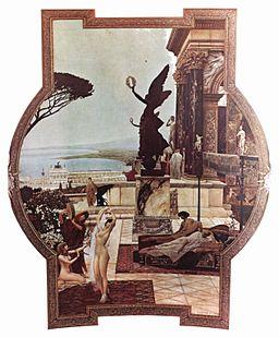 Gustav Klimt – Teatr w Taormina (obraz sufitowy w Burgtheater, 1886–1888)