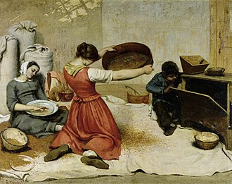The Wheat Sifters - Image: Gustave Courbet 014