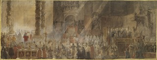 Gustavus III Attending Christmas Mass in 1783, in St Peter's, Rome
