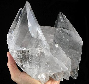 "Water-clear selenite crystal ""floater&quo..."