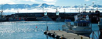 Húsavík - Image: Húsavík harbor. Northern Iceland