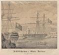 H.M.S. Barham in Malta Harbour 25 Septmb 1833 RMG PY0783.jpg