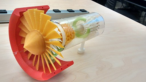 HCC 3D printed turbine view 1