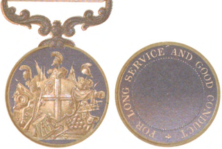 Indian Long Service and Good Conduct Medal (for Europeans of Indian Army)