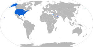 HIMARS - Map with HIMARS operators in blue