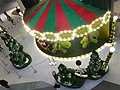 HK Causeway Bay Hysan Place bird eyes view courtyard Christmas decor Dec-2012.JPG
